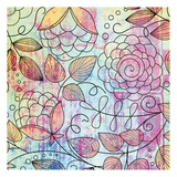 Shabby Floral A Bright Prints by Kristin Emery