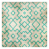 Teal on Tan Pattern Art by Kristin Emery