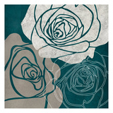 Gray Rose Poster by Kristin Emery