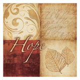 Red Gold Hope Print by Kristin Emery