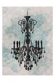 Chandelier Splash Of Blue 2 Prints by Kristin Emery