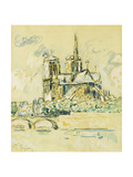 Notre Dame Giclee Print by Paul Signac