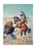Chief Spotted Tail Shooting Buffalo Giclee Print by Louis Maurer