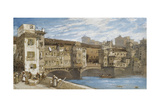 The Ponte Vecchio, Florence Giclee Print by William Callow