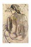 Seated Tahitian Nude from the Back Giclee Print by Paul Gauguin