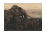 Toomai of the Elephants Giclee Print by Edward Julius Detmold