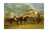 Preparing to Start for the Emperor of Russia's Cup at Ascot, 1845 Wydruk giclee autor Sr. and James Pollard, John Frederick Herring