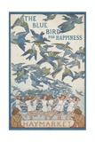 The Blue Bird of Happiness Postcard Impression giclée