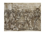 Julius Caesar Preferring His Agrarian Law Giclee Print by Ciro Ferri