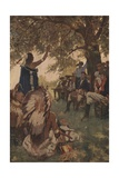 Tecumseh Shawnee Chieftain and William Henry Harrison Giclee Print by Stanley Arthurs