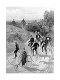 Bicycling Giclee Print by Hy Sandham