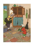Old Mother Hubbard and Her Dog Giclee Print by William Donahey