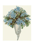 Die-Cut Scrap of Bouquet of Forget-Me-Nots Giclee Print