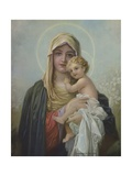 Calendar Illustration of Virgin Mary and Baby Jesus Giclee Print