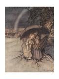 Rain, Rain, Go to Spain Giclee Print by Arthur Rackham