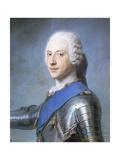 Portrait of Prince Charles Edward Stuart Giclee Print by Maurice-quentin De La Tour