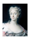 Maria Theresa, Archduchess of Habsburg Giclée-tryk af Rosalba Carriera