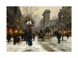 Porte St. Denis, Paris Giclee Print by Edouard Cortes