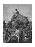 Elephant Battery at Action in Burma Giclee Print