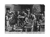 Illustration of a Printing Shop Giclee Print by Johannes Stradanus