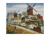 Windmills of Montmartre Giclee Print by Elisee Maclet