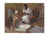 Medicine in Ancient Egypt Giclee Print by Robert Thom