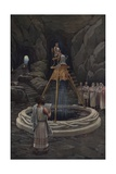 Consulting the Oracle of Delphi Giclee Print by J. Augustus Knapp