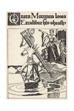 Queen Morgana Loses Excalibur His Sheath Giclee Print by Howard Pyle