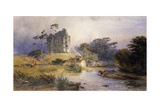 Thirlwall Castle, Northumberland Giclee Print by Henry George Hine
