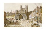 Walmgate Bar, York Giclee Print by Louise J. Rayner