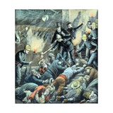 Train Crash on Paris Metro (Aug 1903) Giclee Print