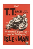 T.T. Races Isle of Man Poster - Giclee Baskı