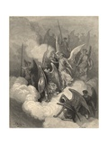 This Greeting on Thy Impious Crest Receive Giclee Print by Gustave Doré