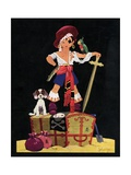Illustration of Boy Dressed as Pirate Giclee Print by John Gee