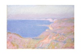 On the Cliffs Near Dieppe, Sunset Giclee Print by Claude Monet