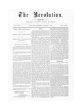 First Issue of the Revolution Suffrage Newspaper Giclee Print