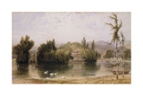 Scene on the Virginia Water Giclee Print by William Daniell