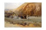 Abu Simbel Temple, Celebration of the Pharoah Giclee Print by Frederick Arthur Bridgman