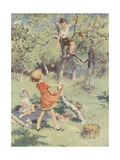 The Apple Orchard Book Illustration Giclee Print
