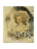 Portrait of Queen Charlotte Giclee Print by John Downman