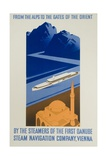 Danube Steam Navigation Company Poster Giclee Print by Hanns Wagula