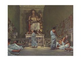 The Temples and Cult of Asclepius Giclee Print by Robert Thom