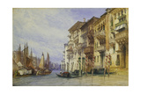 Palaces Near the Entrance of the Grand Canal, Venice Giclee Print by William Callow