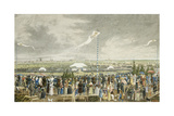 The Horse Race at Theresienwiese and the Oktoberfest Outside Munich Giclee Print by Heinrich Adam