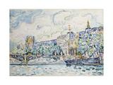 Le Palais Du Louvre Giclee Print by Paul Signac
