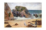 Cows on the Seashore Giclee Print by Paul Gauguin