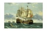 The Battleship Trafalgar Giclee Print by Frederick Tudgay