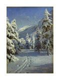 A Wooded Winter Landscape, Mortaratsch Giclee Print by Peder Monsted