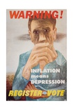 Warning! Inflation Means Depression Poster Giclee Print by Ben Shahn