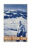 Montreux Oberland Bernois Poster Giclée-tryk